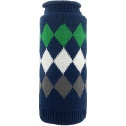 The Worthy Dog Modern Argyle Dog Sweater