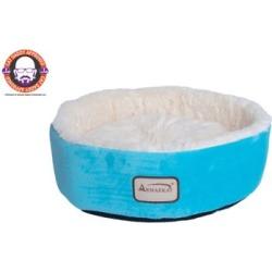 Armarkat 15 in. Soft Plush Round Dount Cat Beds, Dog Cuddler C12HTL/MB