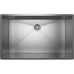 ROHL Forze Single Bowl Stainless Steel Kitchen Or Bar/Food Prep Sink, Brushed Stainless Steel, RHL-RSS3018SB