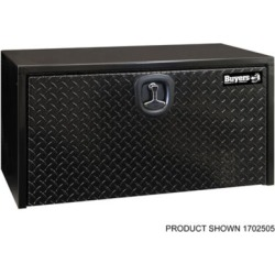 Buyers Products 18 in. x 18 in. x 24 in. Black Steel Underbody Truck Box with Aluminum Door