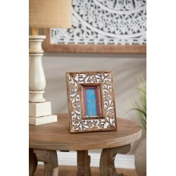 Harper & Willow 8.5 in. x 10 in. Rectangular Carved Wood Antique Floral Picture Frame, Whitewash Finish, 54644 found on Bargain Bro Philippines from Tractor Supply for $34.99
