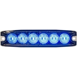 Buyers Products 5.14 in. Blue Surface Mount Ultra-Thin LED Strobe Light
