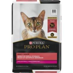 Purina Pro Plan Focus Adult Sensitive Skin & Stomach Lamb & Rice Formula Cat Food, 16 lb. Bag