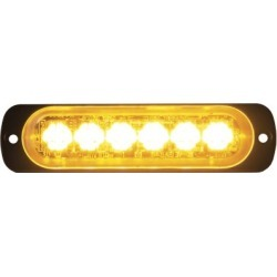 Buyers Products 4.4 in. Amber Thin Mount Horizontal LED Strobe Light