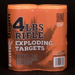 Sonic Boom 1 lb. Exploding Rifle Target, Pack of 4, SBT014P