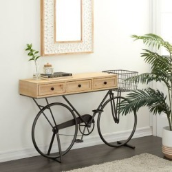 Harper & Willow Multi-Colored Farmhouse Metal Console Table, 34 in. x 58 in., 43339 found on Bargain Bro Philippines from Tractor Supply for $549.99