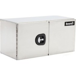 Buyers Products 24 in. x 24 in. x 48 in. Smooth Aluminum Underbody Truck Box with Barn Door