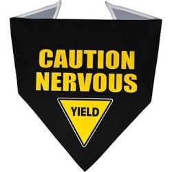 Yellow Dog Design Caution Nervous Sign Bandana, YCNS520 found on Bargain Bro Philippines from Tractor Supply for $9.99