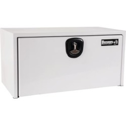 Buyers Products 18 in. x 18 in. x 36 in. White Steel Underbody Truck Box with 3-Point Latch
