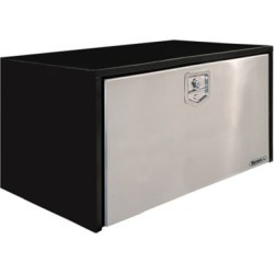 Buyers Products 24 in. x 24 in. x 36 in. Black Steel Truck Box with Stainless Steel Door