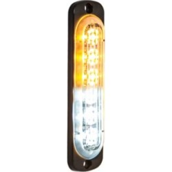 Buyers Products 4.375 in. Amber/Clear Thin Mount Vertical Strobe Light