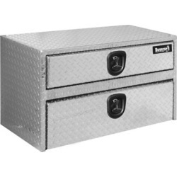 Buyers Products 20 in. x 18 in. x 24 in. Diamond Tread Aluminum Underbody Truck Box with Drawer