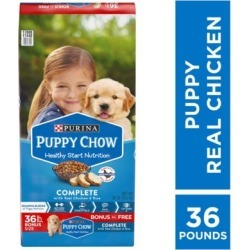 Purina Puppy Chow Complete Dry Dog Food; Bonus Size 36 lb. Bag