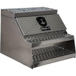 Buyers Products 24 in. x 28 in. x 30 in. Heavy-Duty Diamond Tread Aluminum Step Box