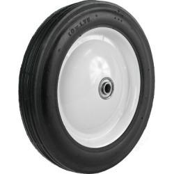 Martin Wheel 10X1.75 Light-Duty Steel Wheel, 1/2 in. BB, 1-5/8 in. Offset Hub, Rib Tread