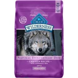 Blue Buffalo Wilderness Small Bites Grain Free Chicken Recipe Dry Dog Food, 24 lb.