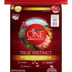 Purina ONE SmartBlend True Instinct Natural Grain-Free Formula w/Real Chicken & Sweet Potato Adult Dry Dog Food, 12.5 lb. Bag