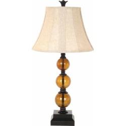 BarrenFork Decor 29 in. Amber Glass Table Lamp