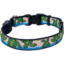 Yellow Dog Design Turtles On The Beach LED Dog Collar