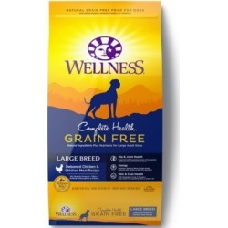 Wellness Complete Health Grain Free Large Breed Deboned Chicken & Chicken Meal Recipe Dog Food, 24 lb.