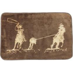HiEnd Accents Team Roping Bath/Kitchen Rug, 24 in. x 36 in., Dark Chocolate