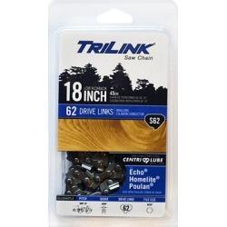 TriLink Saw Chain 18 in. Semi Chisel Saw Chain; 3/8 in. LP Pitch; .050 in. Gauge; 62 DL