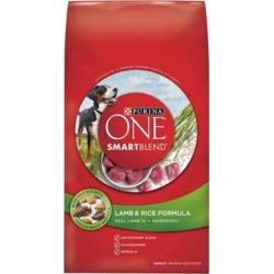 Purina ONE SmartBlend Lamb & Rice Formula Adult Premium Dog Food, 31.1 lb. Bag