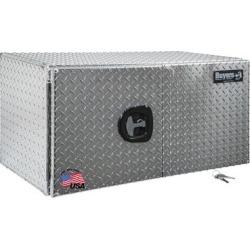 Buyers Products 18 in. x 18 in. x 36 in. Diamond Tread Aluminum Underbody Truck Box with Barn Door