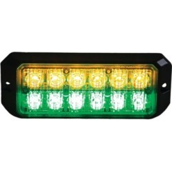 Buyers Products 5.19 in. Amber/Green Rectangular LED Strobe Light