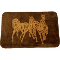 HiEnd Accents 3 Horse Bathroom Kitchen Rug BW3003-TT-CH