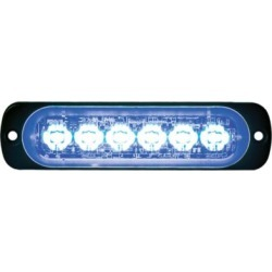 Buyers Products 4.4 in. Blue Thin Mount Horizontal LED Strobe Light