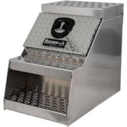 Buyers Products 24 in. x 28 in. x 18 in. Heavy-Duty Diamond Tread Aluminum Step Box