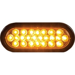 Buyers Products 6 in. Amber Oval Recessed Strobe Warning Light