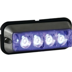 Buyers Products 4.875 in. Blue Rectangular Strobe Light