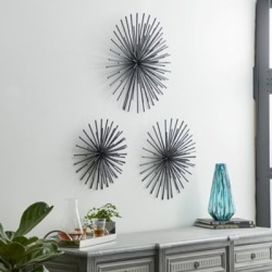 Harper & Willow Black Metal Orb 3D Wall Decor, Set of 3, 24 in., 20 in., 16 in., 44564 found on Bargain Bro Philippines from Tractor Supply for $87.99