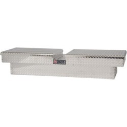Tractor Supply Full-Size Gull Wing Aluminum Tool Box; Silver