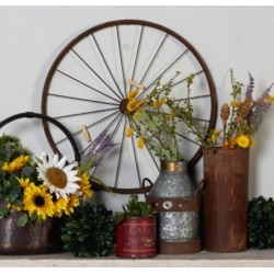 Harper & Willow 24 in. Large Decorative Metal Wheel Photo Display Wall Decor, 55854 found on Bargain Bro Philippines from Tractor Supply for $61.99