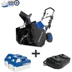 Snow Joe 48-Volt iON+ 18 In. Cordless Snow Blower Kit, 24V-X2-SB18