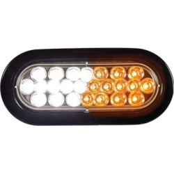 Buyers Products 6 in. Amber/Clear Oval Recessed Strobe Warning Light