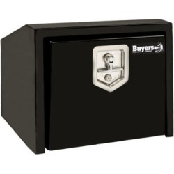 Buyers Products 14 in. x 12 in. x 18 in. Black Steel Underbody Truck Box with Slanted Back