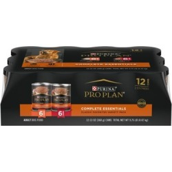Purina Pro Plan Pate Wet Dog Food Variety Pack, SAVOR Beef and Rice and Chicken and Rice Entrees, Twelve 13 oz. Cans