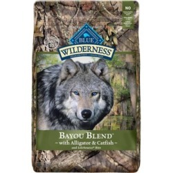 Blue Buffalo Wilderness High Protein Bayou Blend Alligator & Catfish Adult Dry Dog Food, 22 lb. Bag