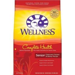 Wellness Complete Health Natural Senior Chicken & Barley Dog Food; 15 lb. Bag