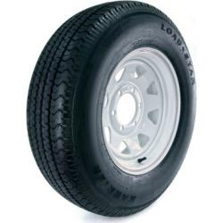 Kenda Loadstar Karrier Radial Trailer Tire and 6-Hole Custom Spoke Wheel (5/4.5), 225/75R-15 LRD