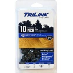 TriLink Saw Chain 10 in. Semi Chisel Saw Chain; 3/8 in. LP Pitch; .050 in. Gauge; 40 DL