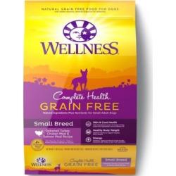 Wellness Complete Health Grain-Free Small Breed Deboned Turkey, Chicken Meal & Salmon Meal Recipe Dog Food, 11 lb.