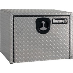 Buyers Products 18 in. x 18 in. x 24 in. Diamond Tread Aluminum Underbody Truck Box with 3-Pt. Latch