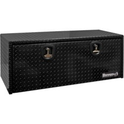 Buyers Products 18 in. x 18 in. x 48 in. Black Diamond Tread Aluminum Underbody Truck Box