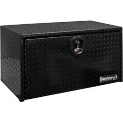 Buyers Products 18 in. x 18 in. x 30 in. Black Diamond Tread Aluminum Underbody Truck Box