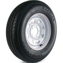 Kenda Karrier Radial Trailer Tire and 5-Hole Custom Spoke Wheel (5/4.5), 175/80R-13 LRC